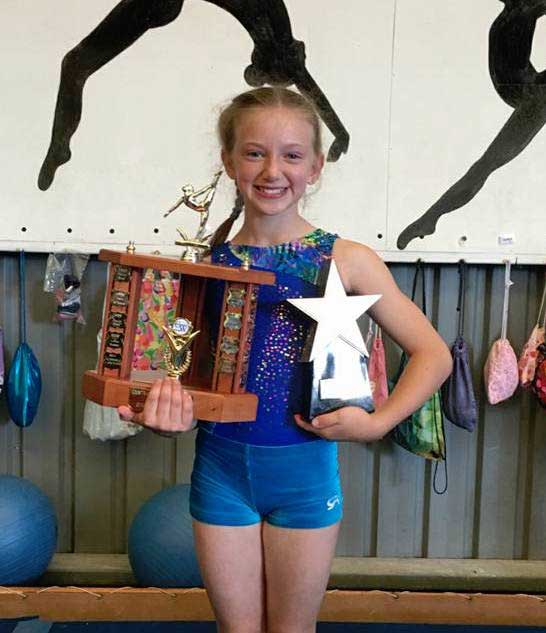 Olivia, Year 6, NSW - A highly awarded gymnast, Olivia trains 20 hours a week and dreams to represent Australia in Women's Artistic Gymnastics at the 2024 Olympic Games.